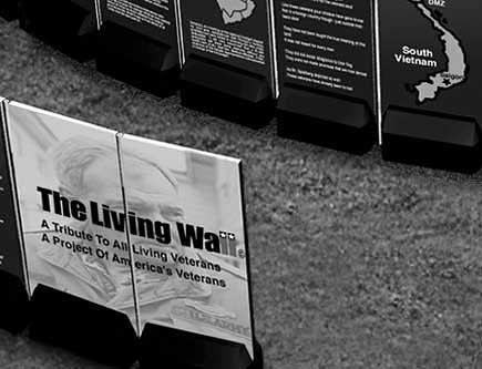The Living Wall (section1) - A Tribute to all living Veterans - A project of America's Veterans